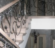 кованые перила лестницы в москве