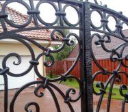 ворота кованые с калиткой купить