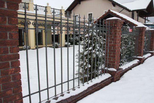кованый забор цена за метр