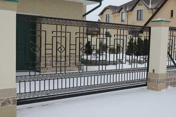 кованые ворота раздвижные