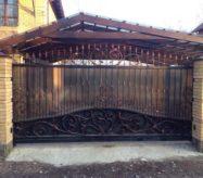 кованые откатные ворота в москве недорого