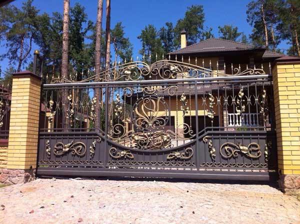 кованые откатные ворота купить