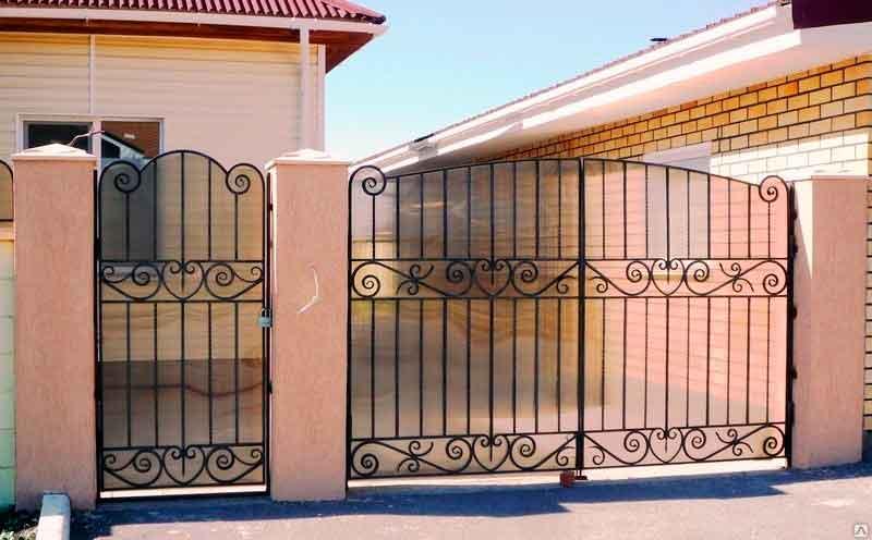 Кованые ворота для дачи купить