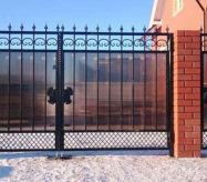 Кованые ворота для дачи на заказ
