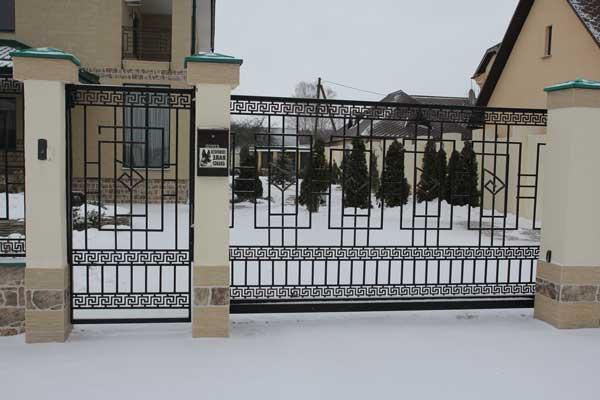 Кованые ворота для дачи в Москве