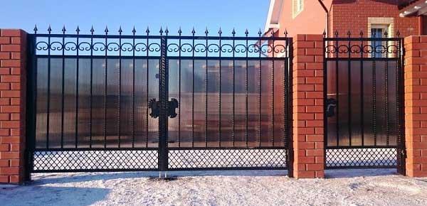 Ворота с калиткой заказать