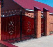 Кованые ворота с поликарбонатом в Москве